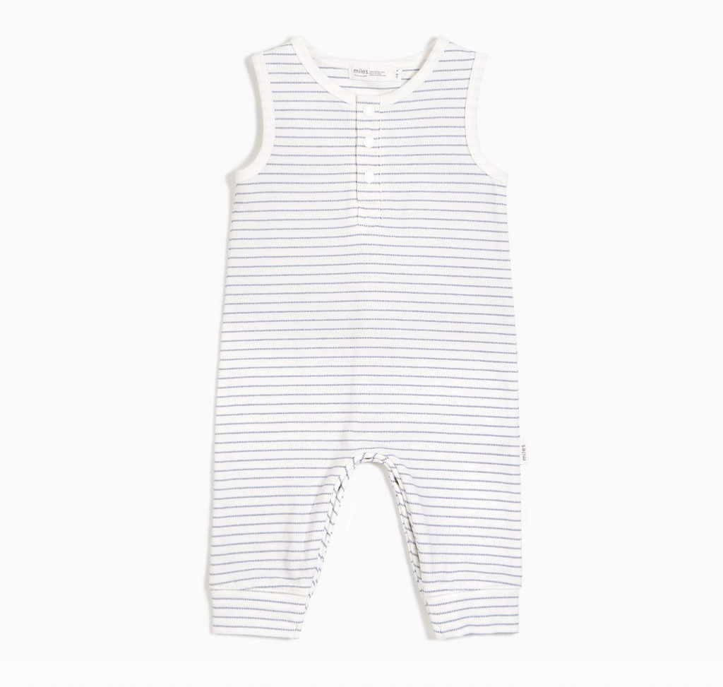Sleeveless Coverall - Sky Stripe