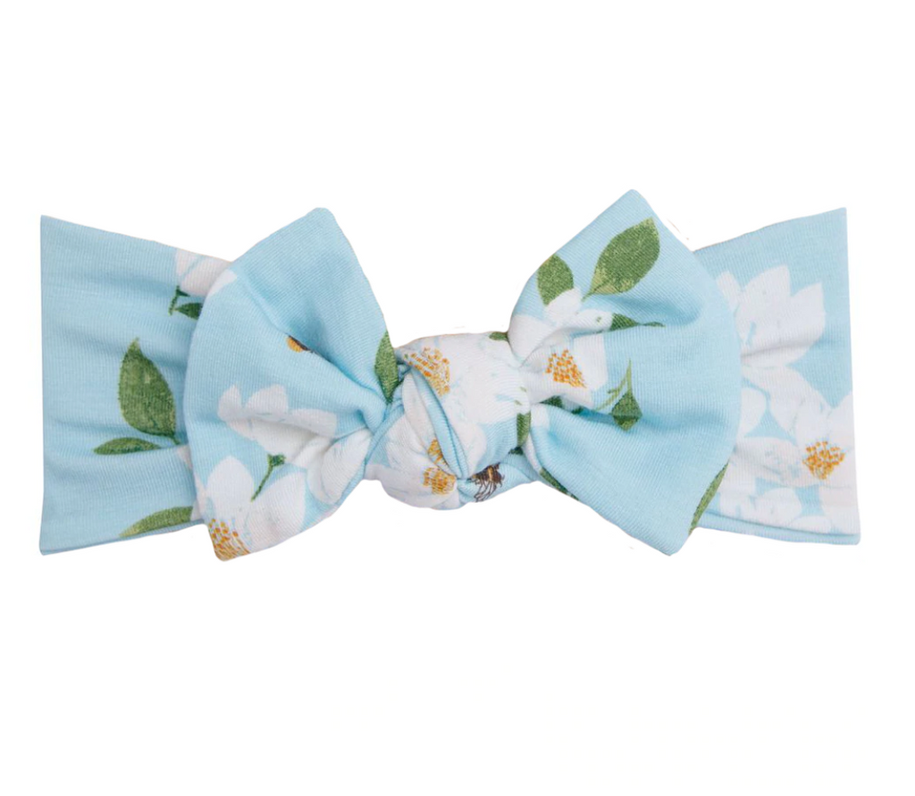 Top Knot Headband - Blue Magnolia