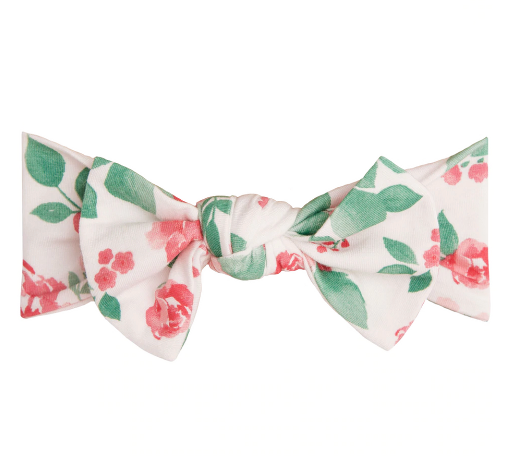 Top Knot Headband - Rose Garden
