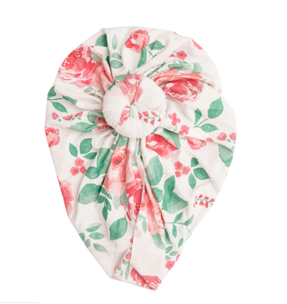 Knot Turban - Rose Garden
