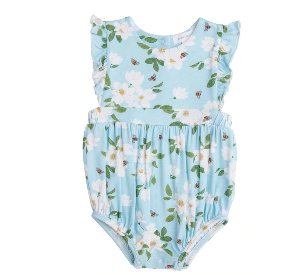 Ruffle Sunsuit - Blue Magnolia