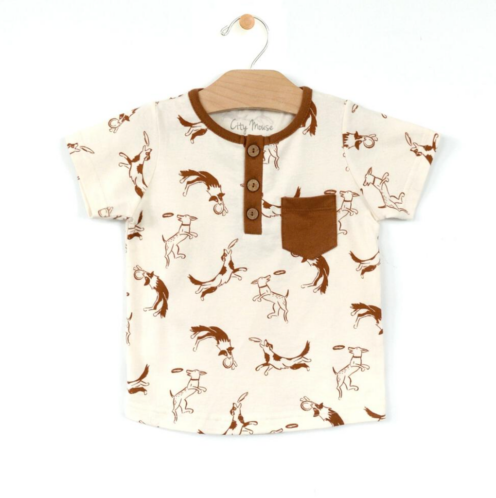 Henley Pocket Tee - Dogs