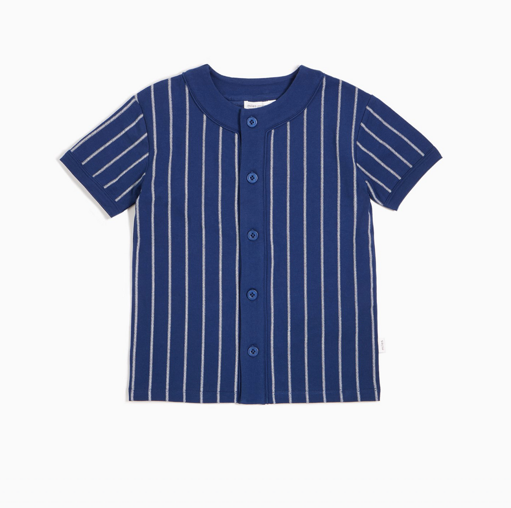 Baseball Stripe Button Up