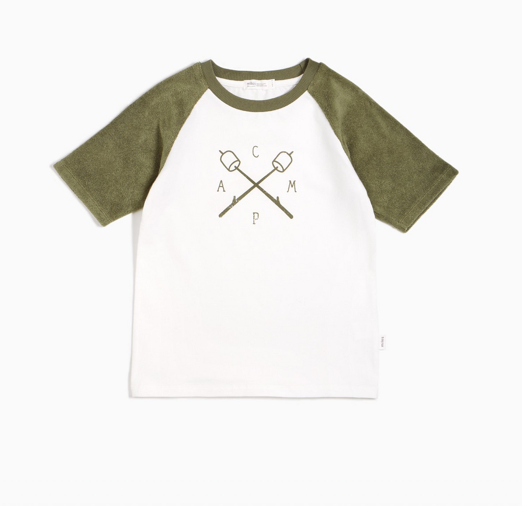 Camp Raglan Tee - Forest