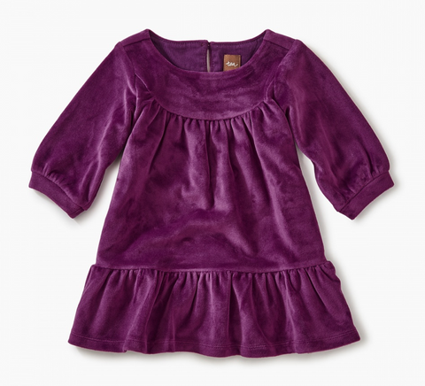 Velour Ruffle Dress