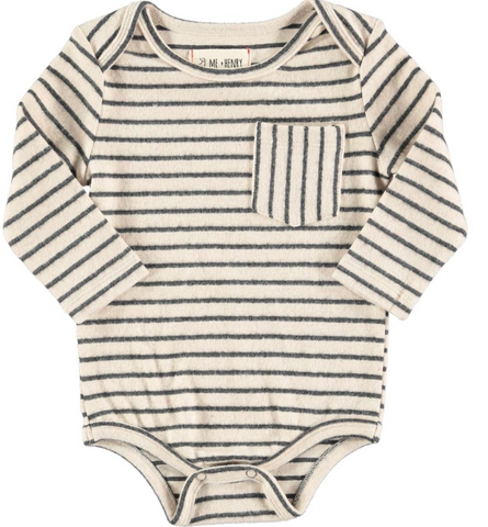 Charcoal Stripe Onesie