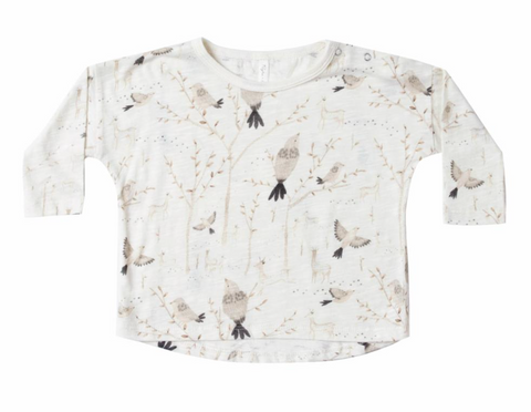 Rylee + Cru Longsleeve Tee - Winter Birds