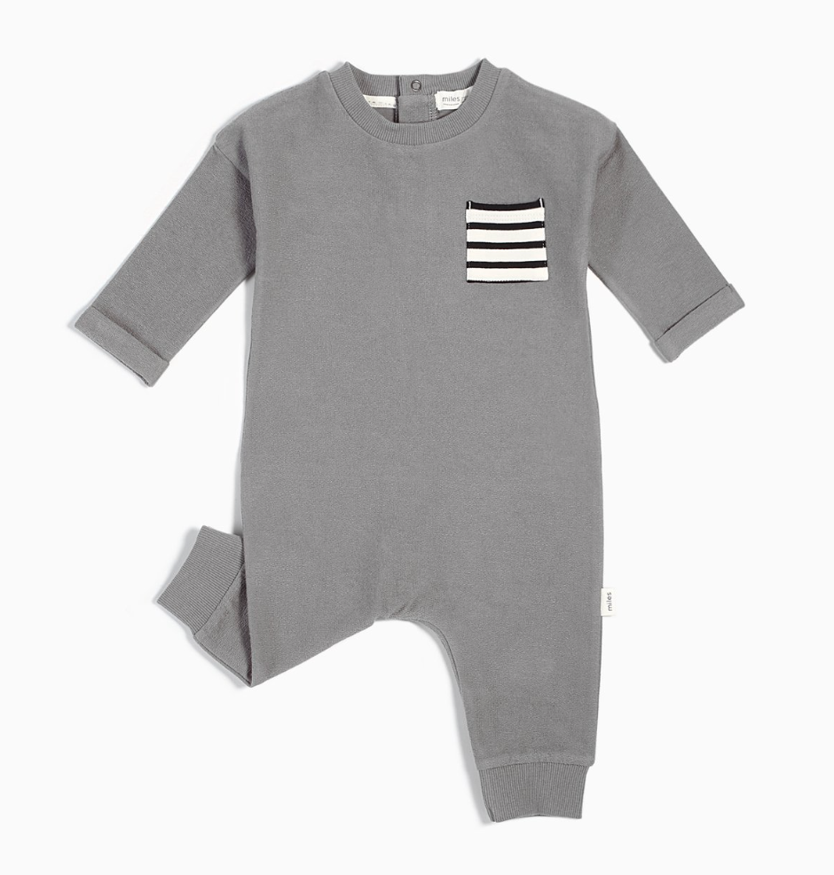 Stripe Pocket Playsuit