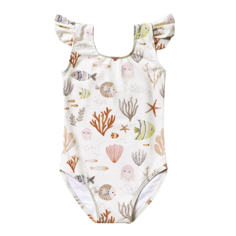 Rylee + Cru Frill Onepiece - Sea Life