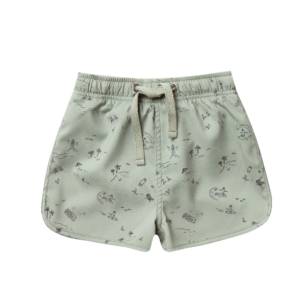 Rylee + Cru Swim Trunk - Beach Town
