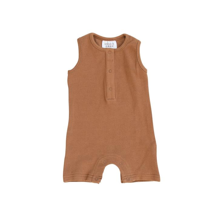 Ribbed Short Romper - Honey