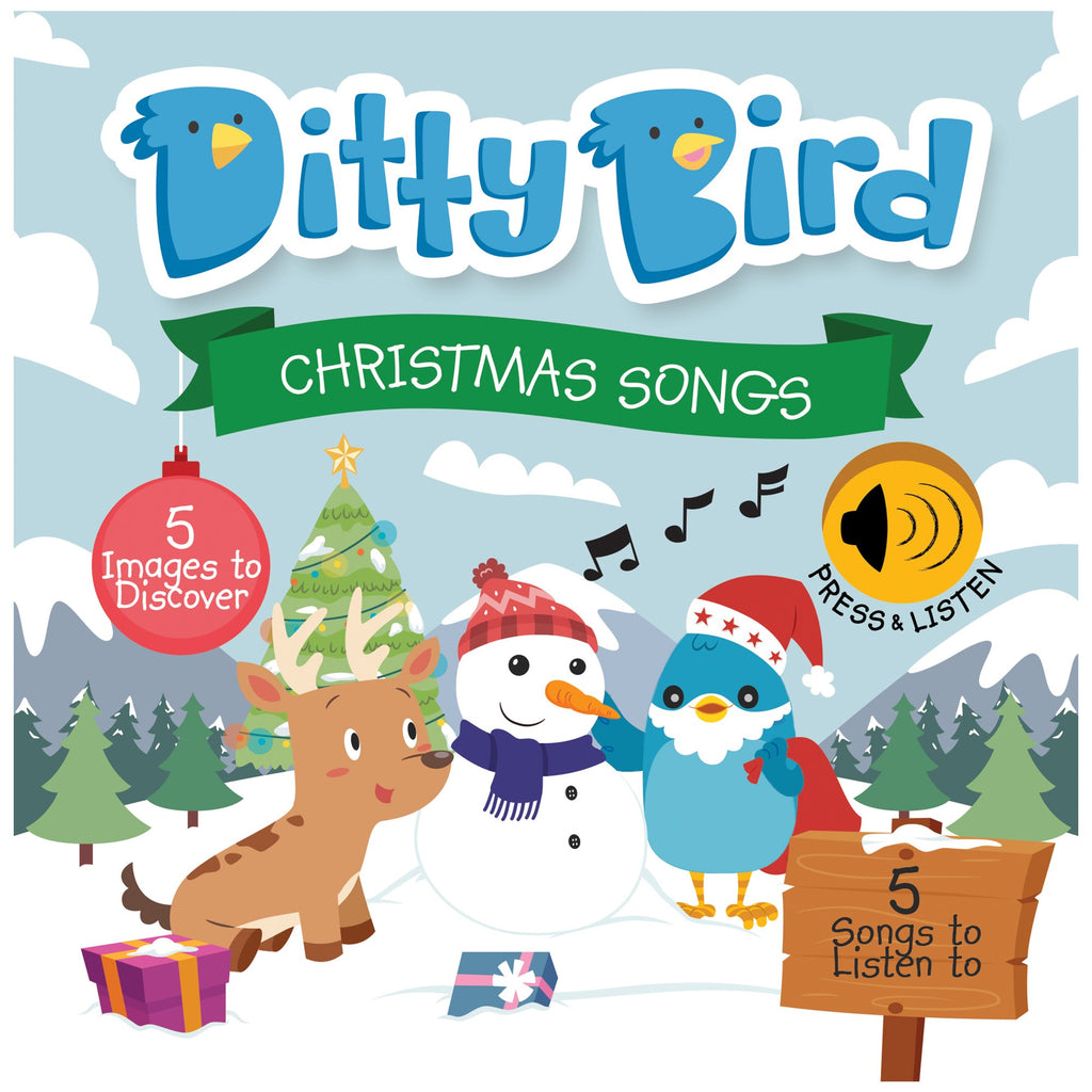 Ditty Bird Board Book - Christmas Songs