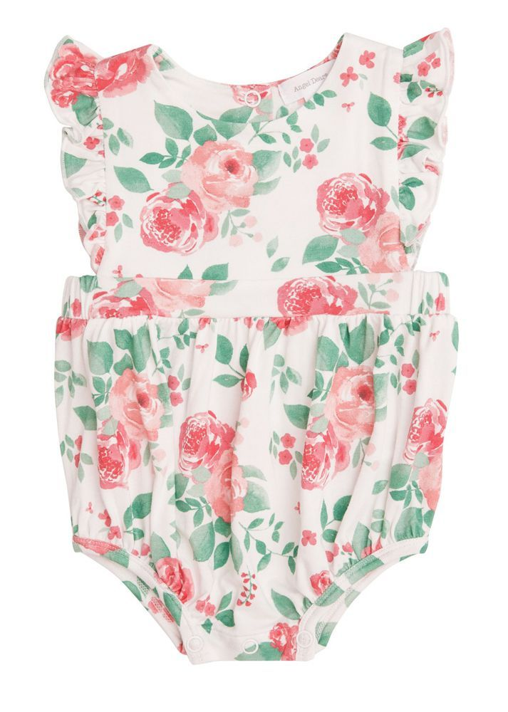 Ruffle Sunsuit - Rose Garden