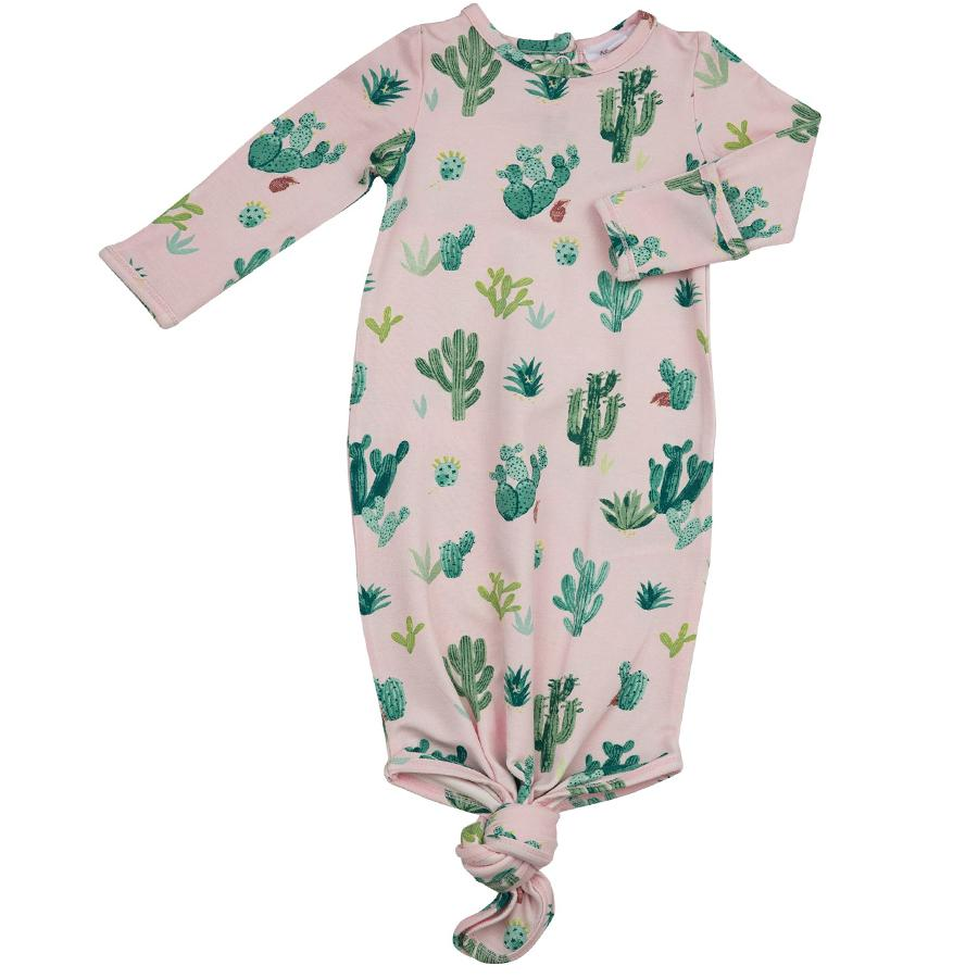 Knotted Gown - Pink Cactus