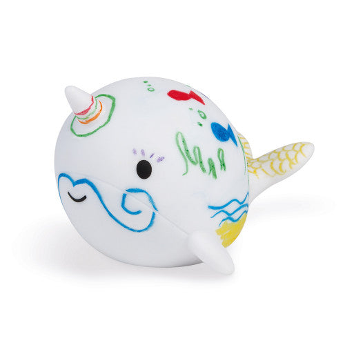Color Narwhal Bath Toy