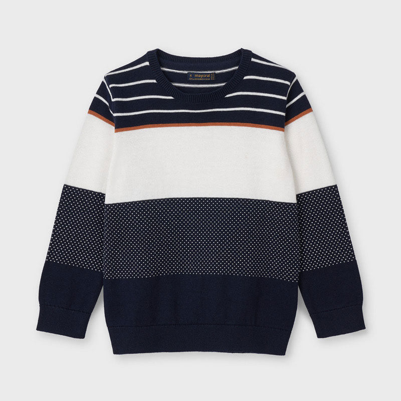 Colorblock Sweater - Navy