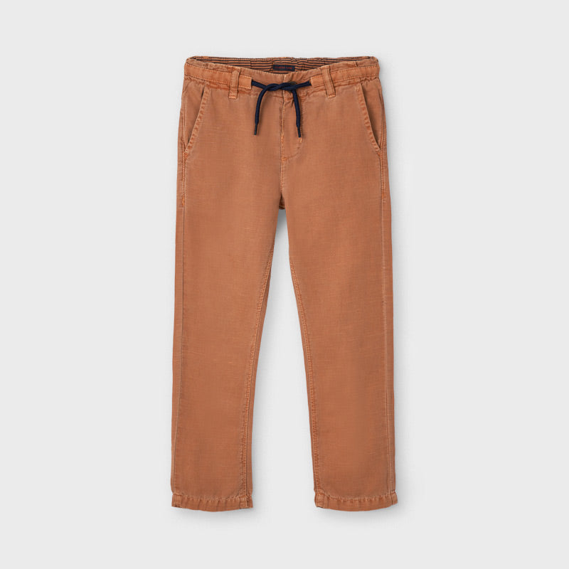 Linen Blend Chinos - Clay