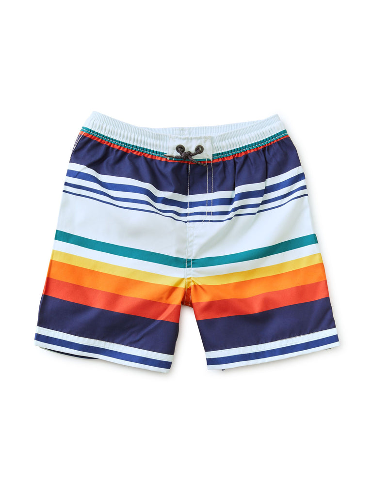 Mid-Length Swim Trunks - Cairo Stripe