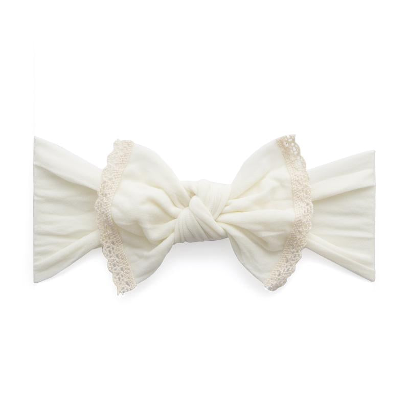 Baby Bling Trimmed Classic Knot Headband