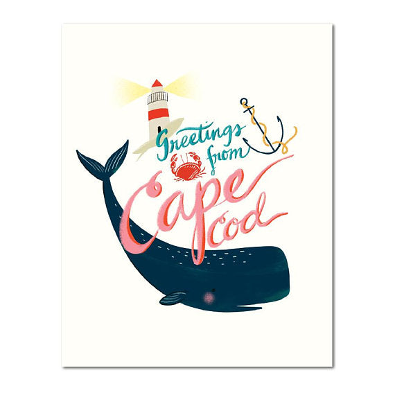 Greetings from Cape Cod Art Print
