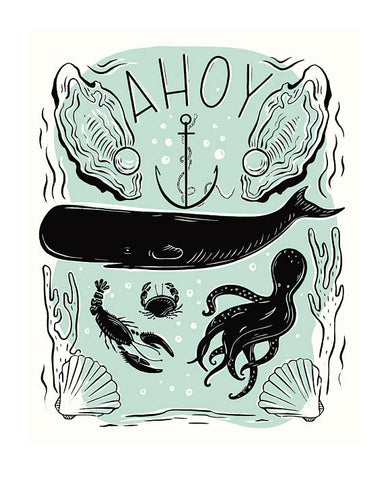 Ahoy Nautical Art Print