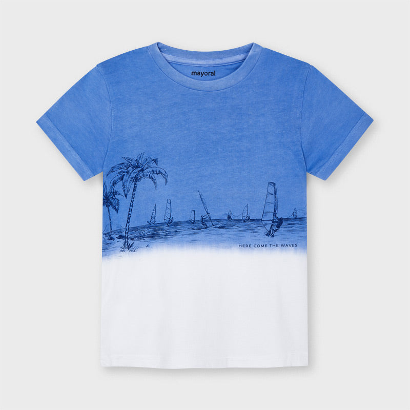 Graphic Tee - Blue Dip Dye