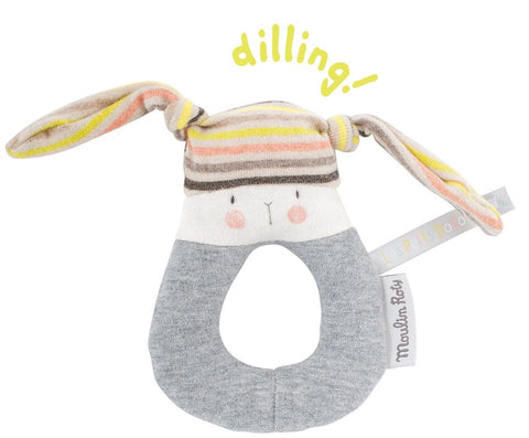 Moulin Roty Rabbit Ring Rattle