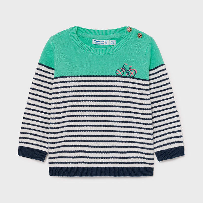 Bicycle Stripe Sweater - Aqua