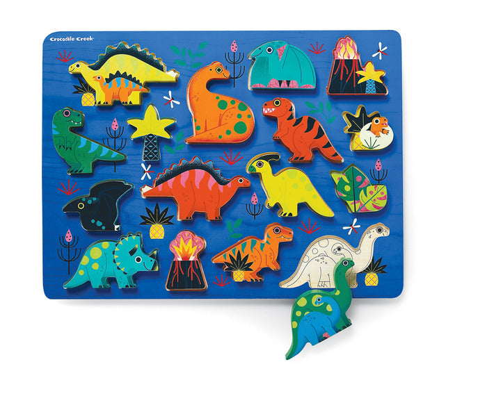 Let's Play Wood Puzzle - Dinosaurs 16pcs.