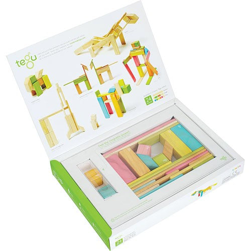 Tegu Magnetic Wooden Blocks 24 Piece Set