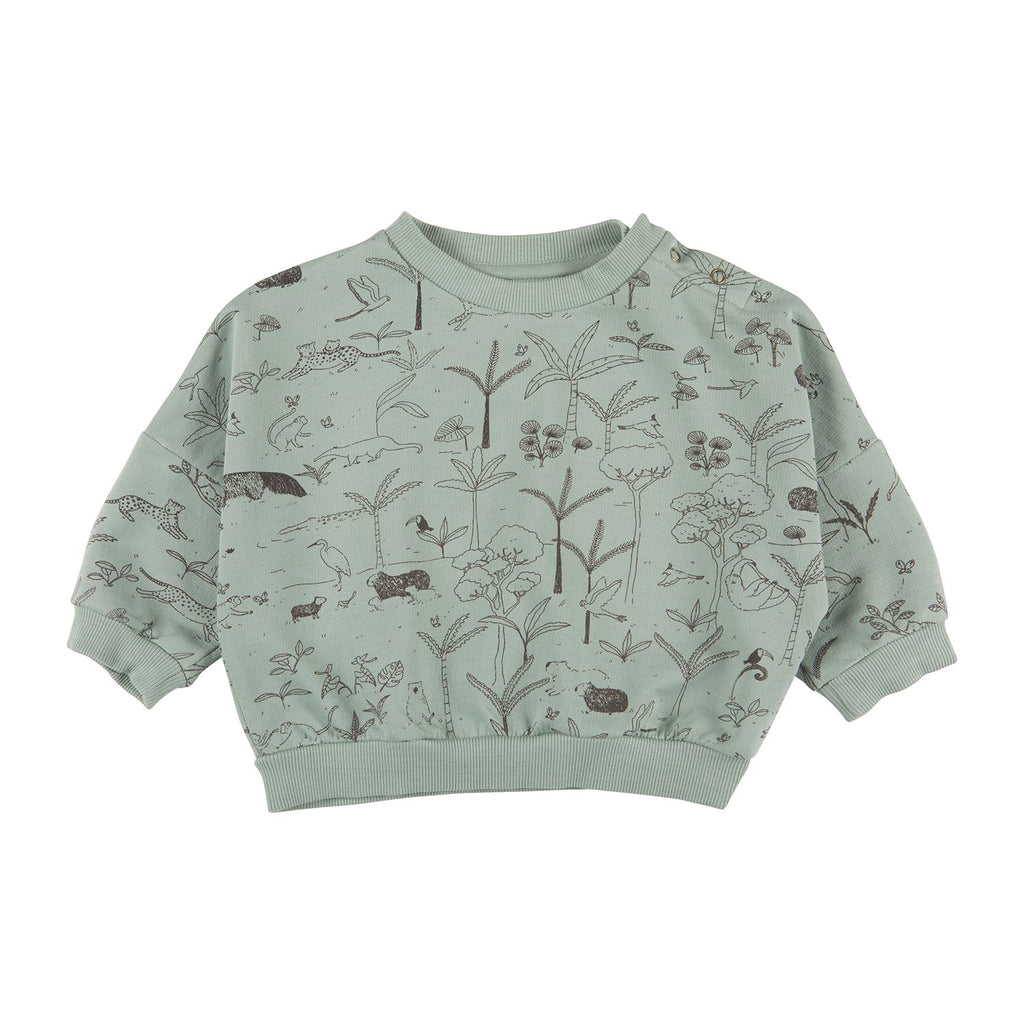 Red Caribou Pullover Sweatshirt - The Story