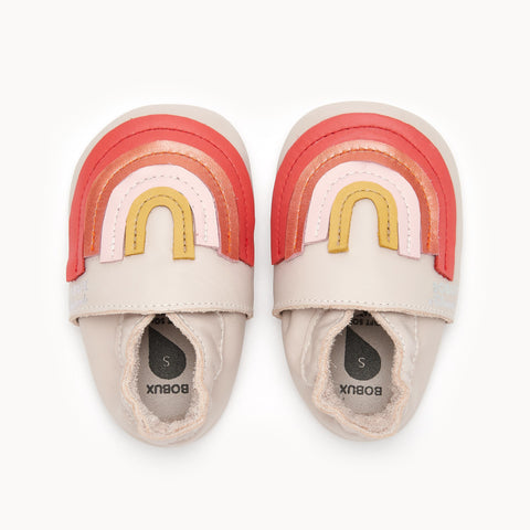 Soft Sole Shoes - Peach Rainbow