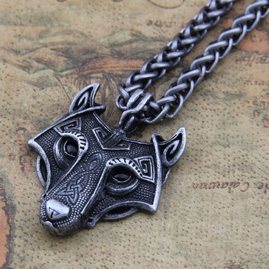 Wolf Head Necklace - Vikingdom
