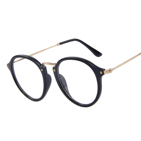 Unisex Retro Clear Eyeglasses Oval Frame