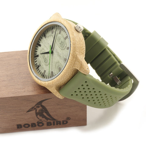 Luxury Wooden Green Chronograph