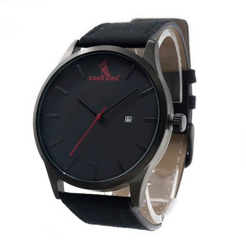 BOBOBIRD Luxury Leather Strap Watch