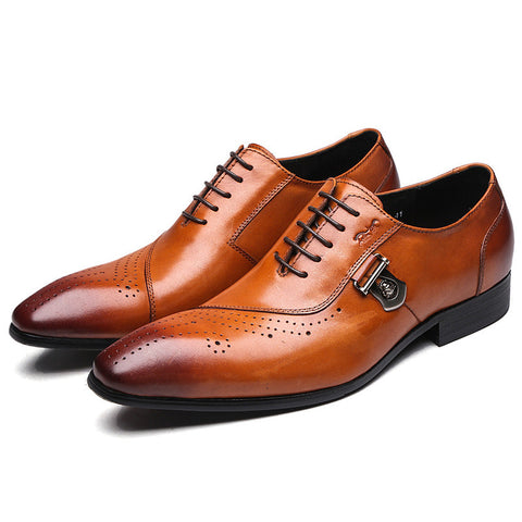 Black/Brown Brogue Genuine Leather Classics