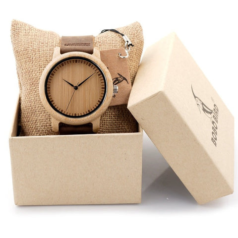 """BOBO BIRD""  Bamboo Wood Luxury Watch"