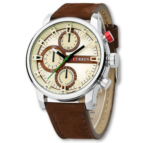 CURREN Men Luxury Leather Sport Watch