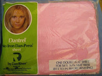 NIP Dan River Dantrel Pink Full Flat Sheet