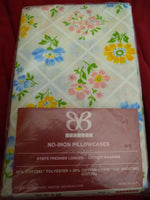 Bibb NIP New in package pair of Floral Trellis pillowcases