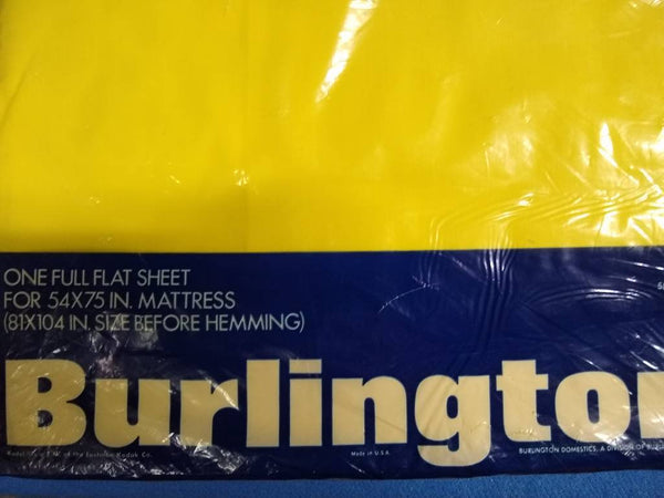 Burlington House Full Flat sheet, yellow colorway