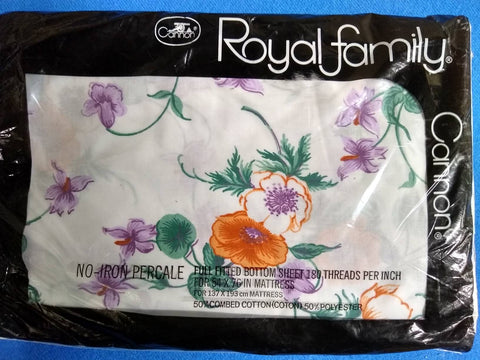 Cannon Royal Family Full Fitted bottom sheet, Melody pattern