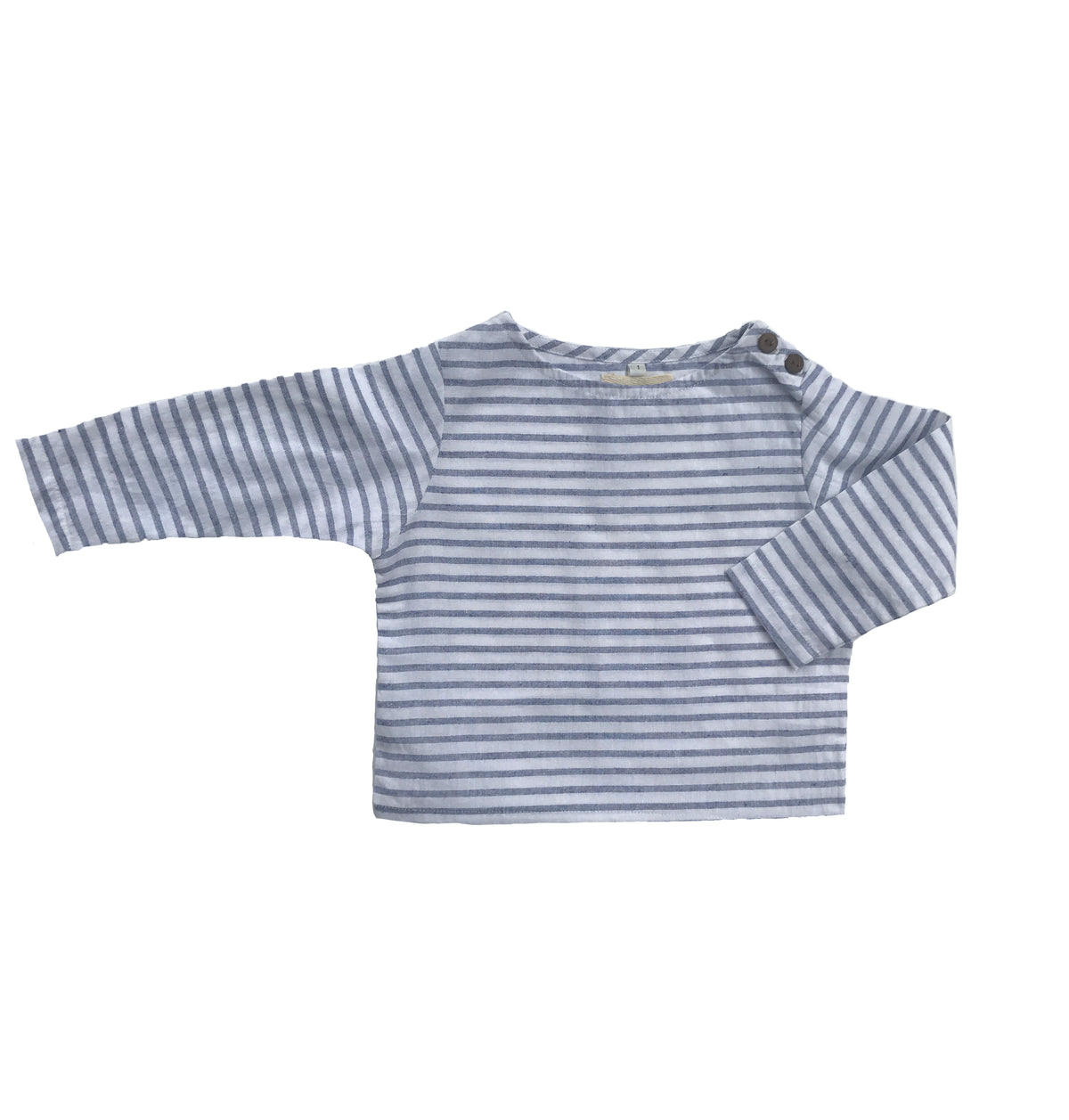 KÚKÚ TOP BLUE/WHITE STRIPE