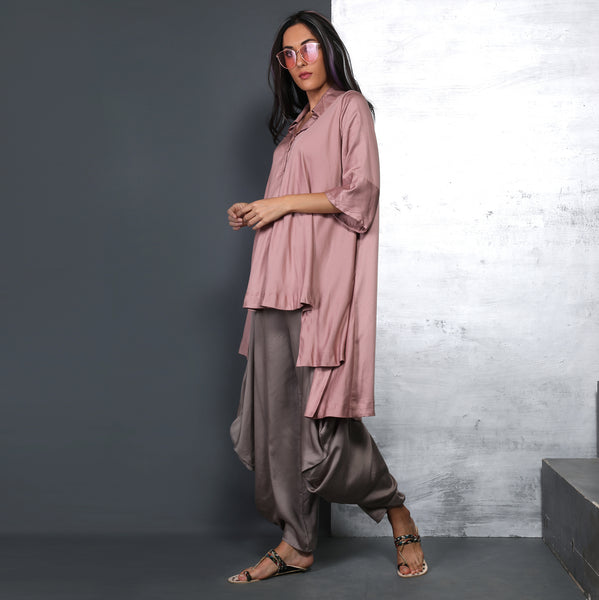 Nishi Shirt with Goro Pants - Muddy Pink with Smoke Grey