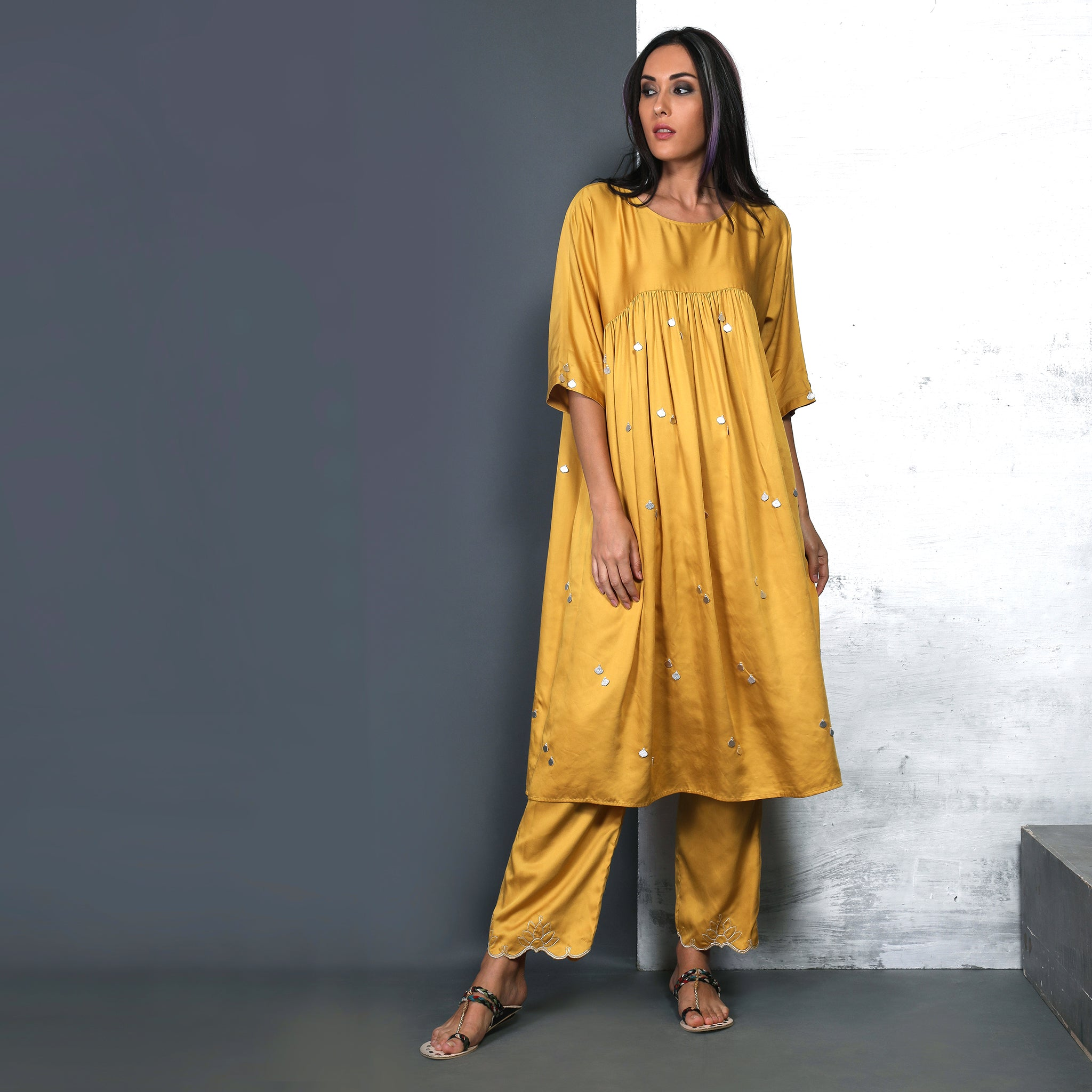 Maria Tunic Set - Canary yellow