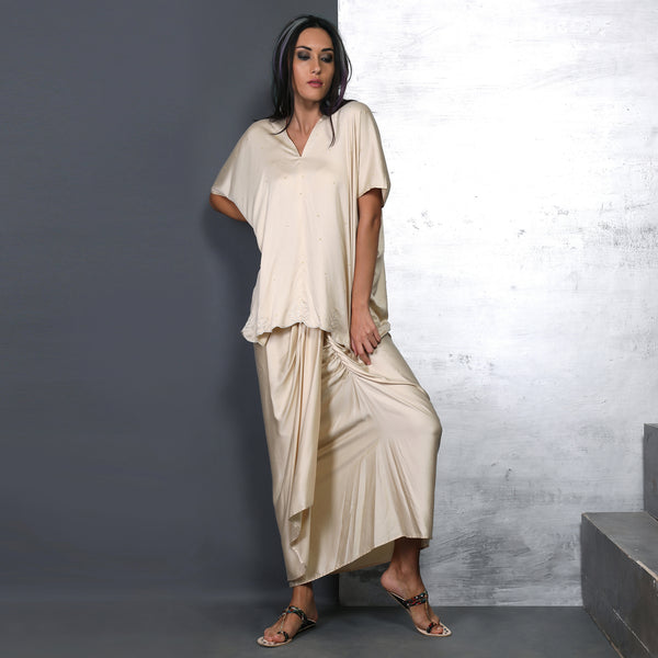 Eri Top with Ena Dhoti Skirt