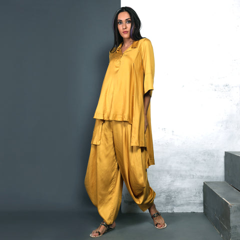 Nishi Shirt with Goro Pants - Canary Yellow