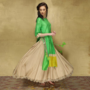 Parvati Maxi - Green and Ecru