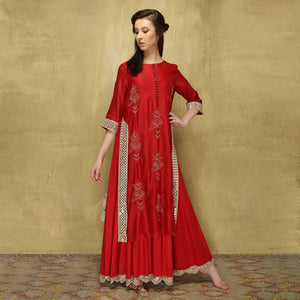 Parvati Maxi - Red on Red